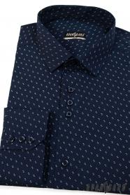 Pánská košile SLIM tmavěmodrá se vzorem