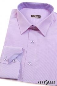 Proštíhlená košile SLIM lila s jemnou strukturou