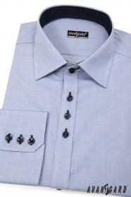 Pánská košile SLIM modrá s tmavými knoflíčky