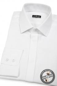 Pánská košile SLIM krytá léga Bílá