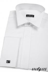 Pánská fraková košile SLIM bílá