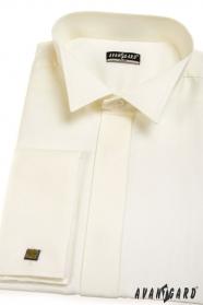 Pánská fraková košile SLIM MK V2-Smetanová