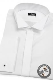 Pánská fraková košile SLIM MK hladká bílá
