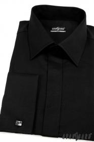 Pánská košile SLIM krytá léga Černá