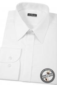 Pánská košile SLIM bílá s leskem EASY CARE
