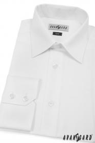 Pánská košile SLIM s dlouhými rukávy Bílá