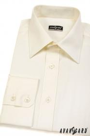 Pánská košile SLIM dlouhý rukáv V2-Smetanová