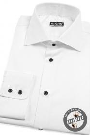 Pánská košile REGULAR dlouhý rukáv Bílá