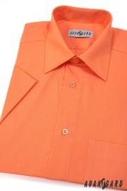 Pánská košile KLASIK krátký rukáv Pomerančová