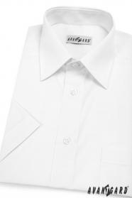Pánská košile KLASIK krátký rukáv V1-Bílá