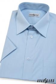 Pánská košile KLASIK krátký rukáv Světle modrá