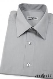 Pánská košile KLASIK s krátkým rukávem Šedá