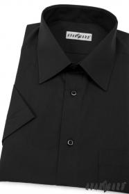 Pánská košile KLASIK krátký rukáv V23-Černá