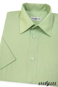 Pánská košile KLASIK krátký rukáv V8-Zelená