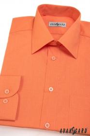 Pánská košile dlouhý rukáv pomerančová