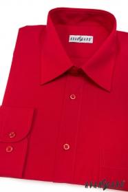 Pánská košile KLASIK s dlouhými rukávy Červená