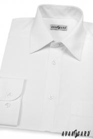 Pánská košile KLASIK dlouhý rukáv V1-Bílá
