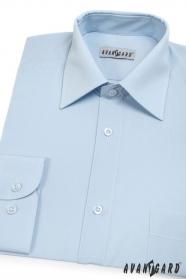 Pánská košile KLASIK dlouhý rukáv Světle modrá