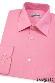 Pánská košile KLASIK dlouhý rukáv Růžová