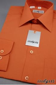 Pánská košile KLASIK dlouhý rukáv Cihlová