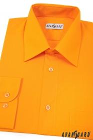 Pánská košile světle oranžová