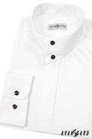 Pánská košile se stojáčkem bílá