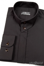 Pánská košile se stojáčkem černá