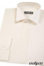Pánská fraková košile s krytou légou Smetanová