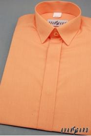 Chlapecká košile s krytou légou pomerančová