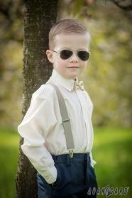 Smetanová chlapecká košile KLASIK s krytou légou