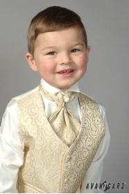 Chlapecká fraková košile smetanová