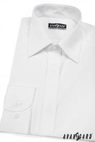 Pánská košile KLASIK s krytou légou V1-Bílá