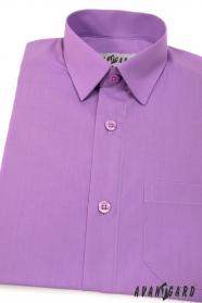 Chlapecká košile KLASIK fialová