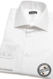 Pánská košile KLASIK dlouhý rukáv Bílá