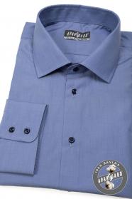 Modrá pánská košile 100% bavlna