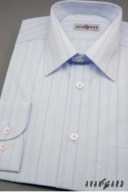 Pánská košile modrá s širokými proužky