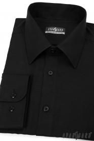 Černá pánská košile Avantgard s dlouhým rukávem