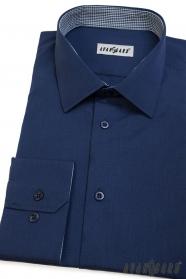 Modrá pánská košile Avantgard dlouhý rukáv