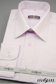 Pánská košile lila s jemným proužkem