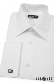 Pánská košile KLASIK MK Bílá s jemným proužkem