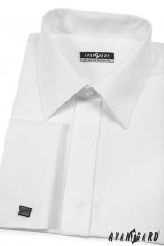 Košile na manžetové knoflíčky bílá
