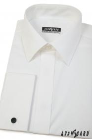 Pánská košile smetanové barvy na manžetové knoflíčky