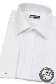 Pánská košile  na MK s krytou légou Bílá