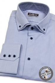 Pánská košile modrá uvnitř kostkovaná