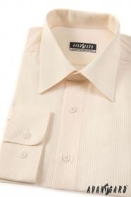 Pánská košile smetanová s jemnými proužky