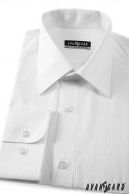Pánská košile KLASIK dlouhý rukáv 2111 Bílá