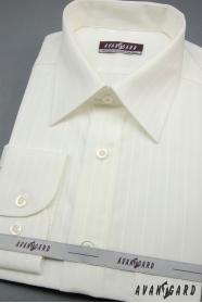 Pánská košile smetanová s širokým proužkem