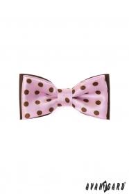 Chlapecký růžový motýlek hnědé puntíky