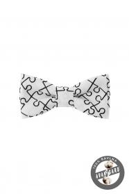 Motýlek MINI - Bílá/puzzle