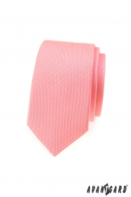Slim kravata v lososové barvě